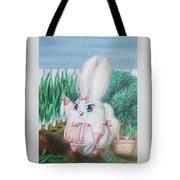 White Bunny Tote Bag
