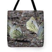 White Butterflies Tote Bag