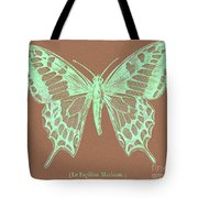 White Butterfly Swallow Tail Le Papillon Machaon Tote Bag