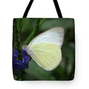 White Butterfly Tote Bag