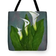 White Calla Lilies Tote Bag