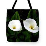 White Calla Lily Tote Bag