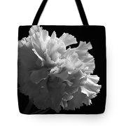 White Carnation Monochrome Tote Bag