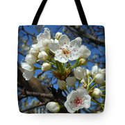 White Blossoms Blooming Tote Bag