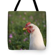 White Chicken Tote Bag