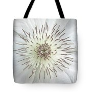 White Clematis Flower Garden 50121b Tote Bag