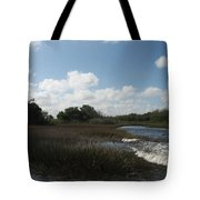 White Cloudes Over Water Tote Bag