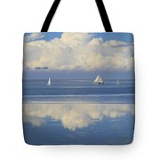 Romantic View With Sailboats In Holland Tote Bag