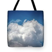 White Clouds In The Sky Tote Bag