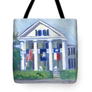 White Columns Tote Bag
