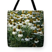 White Coneflower Field Tote Bag