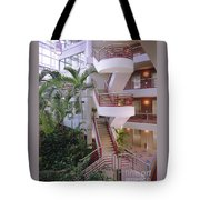 Corporate Woods White Lobby Tote Bag