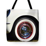 White Corvette Front Fender Tote Bag