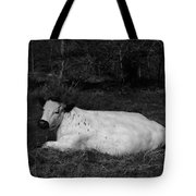 White Cow Luxuriates Tote Bag