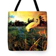 White Cranes Tote Bag