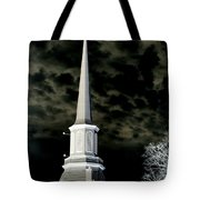 White Cross Dark Skies Tote Bag