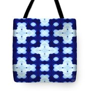 White Crosses And Blue Diamond Abstract Tote Bag