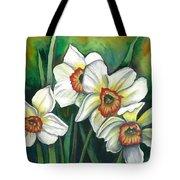 White Daffodils Tote Bag
