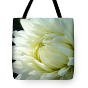 White Dahlia Flower Art Print Canvas Floral Dahlias Baslee Troutman Tote Bag