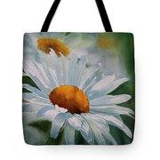 White Daisies Tote Bag by Sharon Freeman