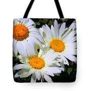White Daisy Flowers Tote Bag