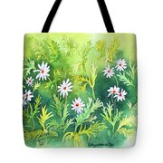 White Daisys Tote Bag