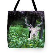 White Deer Tote Bag