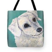 White Dog Tote Bag