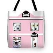 White Dog House Tote Bag