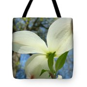 White Dogwood Flower Art Prints Blue Sky Baslee Troutman Tote Bag