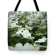 White Dogwood Flowers 6 Dogwood Tree Flowers Art Prints Baslee Troutman Tote Bag
