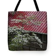 White Dogwood In The Rain Tote Bag