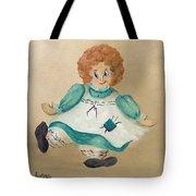 White Doll Tote Bag