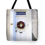 White Door In Charleston Sc Tote Bag by Susanne Van Hulst