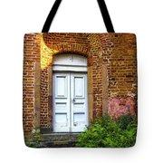 White Door Tote Bag