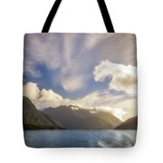White Dragon Cloud In The Sky At Lake Manapouri Tote Bag