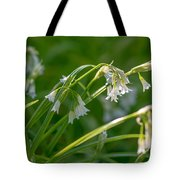 White Drooping Flower Tote Bag