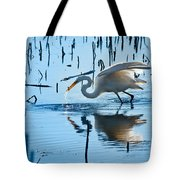 White Egret At Horicon Marsh Wisconsin Tote Bag