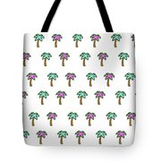 White Epic Palm Tree Print Tote Bag