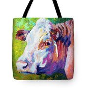 White Face Cow Tote Bag