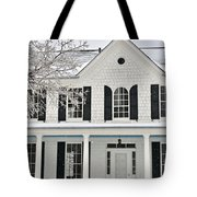 White Farm House In Winter Tote Bag