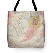 White Feathers Secret Garden Angel 4 Tote Bag