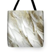 White Feathers With Gold Tote Bag