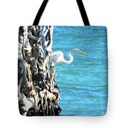 White Fisherman Tote Bag