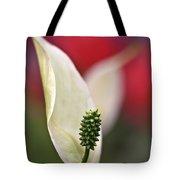 White Flamingo Flower Tote Bag