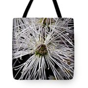 White Flora Tote Bag