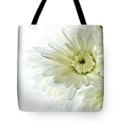 White Floral Tote Bag