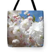 White Floral Tree Flower Blossoms Art Baslee Troutman Tote Bag