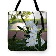 White Flowe Tote Bag