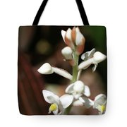 White Flower Buds Tote Bag